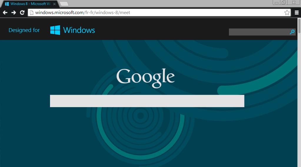 google chrome windows 8 theme