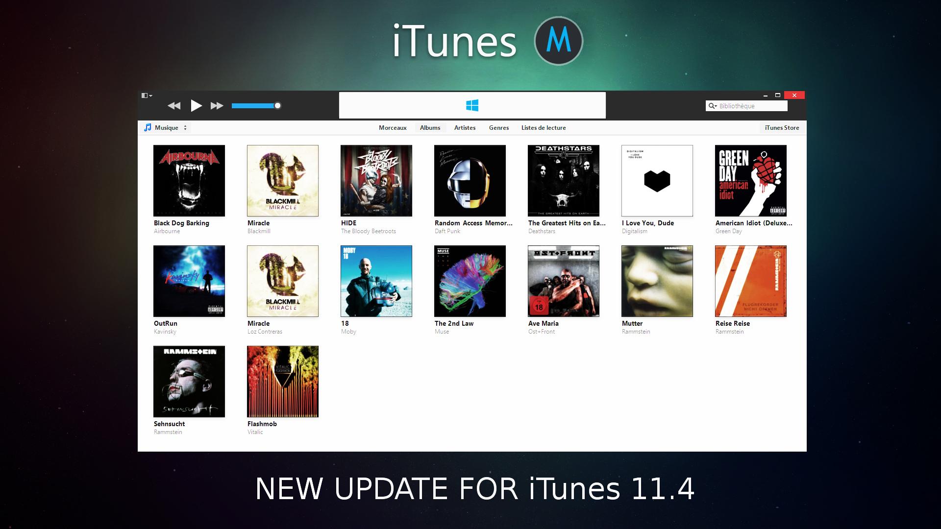 iTunes Metro For Windows [UPDATE] by sunkotora