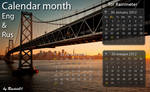 Calendar month Eng and Rus