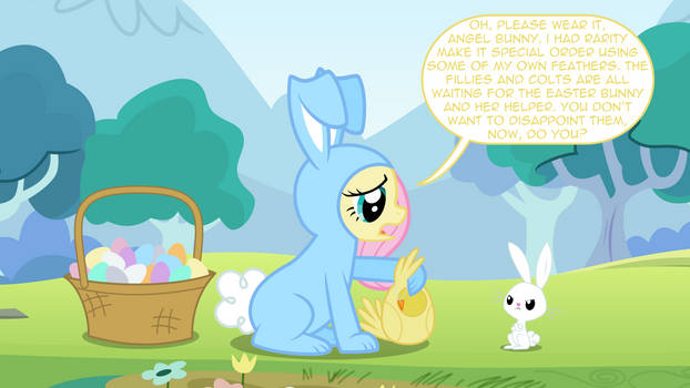 Easter Special - Bunnershy and Angel Chicky?