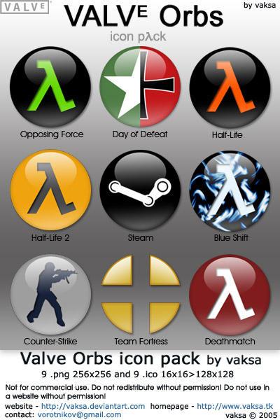 Valve Orbs icon pack by vaksa