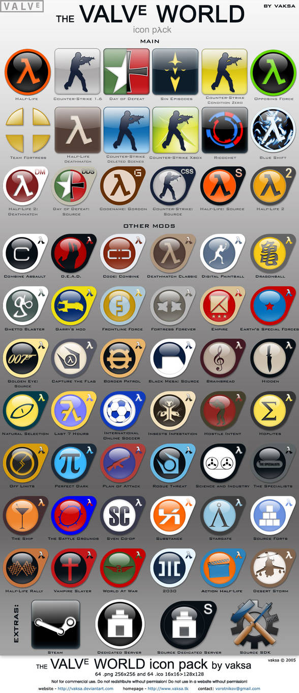 Valve World icon pack