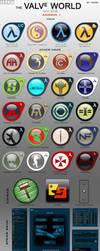 Valve World icon pack ADDon 1 by vaksa