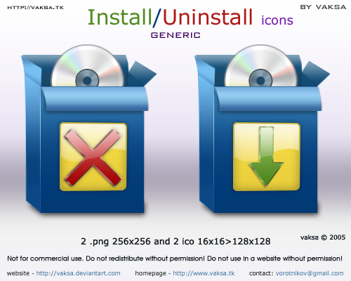 install icon: