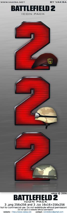 Battlefield 2 icon pack by vaksa