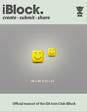 Mr. Square Head Smiley Face by IconBlock