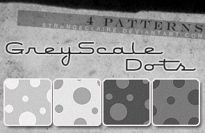 Patterns: Grey Scale Dots by StrangeClaire