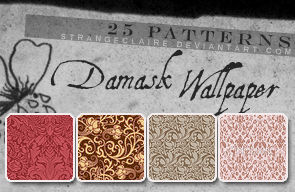Patterns: Damask Wallpaper