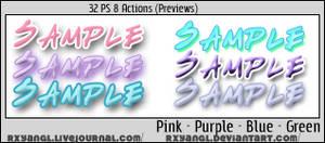 Pink Purple Blue Green Styles