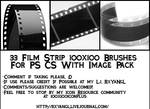 33 Film Strip 100x100 Brushes