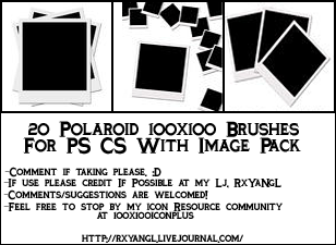 20 Polaroid 100x100 Brushes by princess-RxY