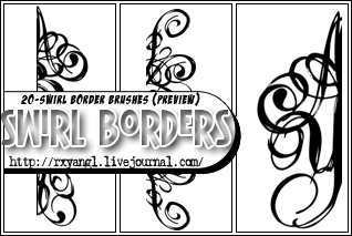 20 Swirl Border Brushes by princess-RxY