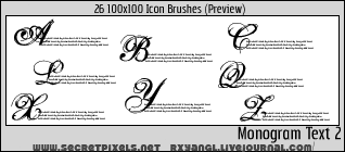 26:100x100 Monogram 2 Brushes by princess-RxY
