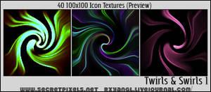 40 Twirls Swirls 100x100 Text