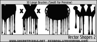 30 Vector 2 PS CS Brushes by princess-RxY
