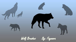 Wolf Brushes by Faymara