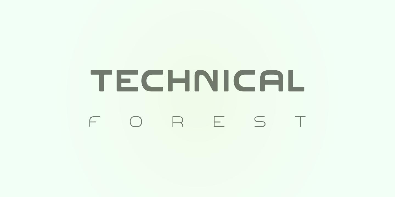 Font: Technical Forest v. 3.00