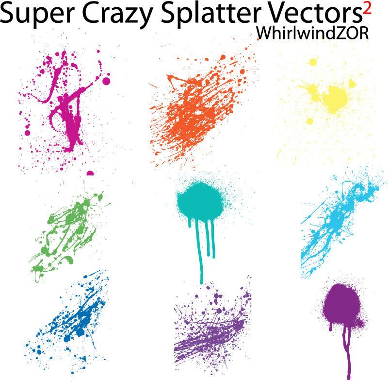 Super Crazy Splatter Vectors 2 by WhirlwindZOR