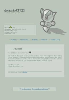 Free CSS Journal: dA Style