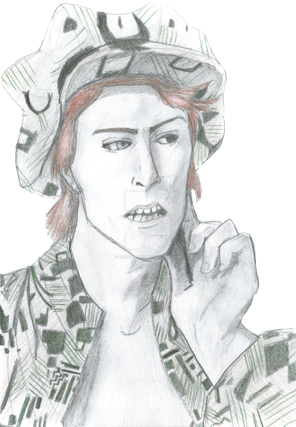 Cartoonized David Bowie Drawing By Iluarts On Deviantart