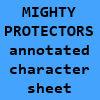 Mighty Protectors character sheet
