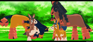 Mmd Pokemon Sun and Moon: Mudbray and Mudsdale