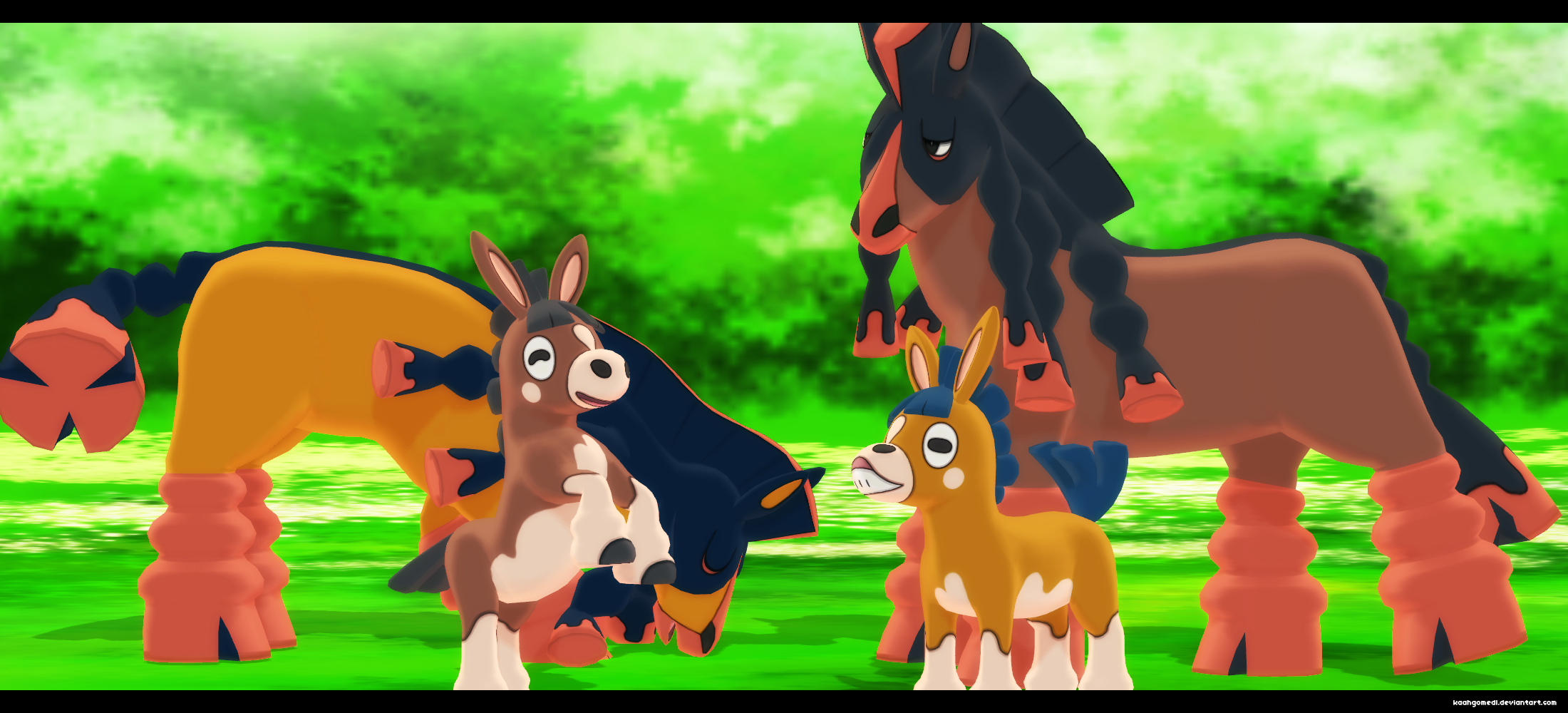 Mmd Pokemon Sun and Moon: Mudbray and Mudsdale by kaahgomedl