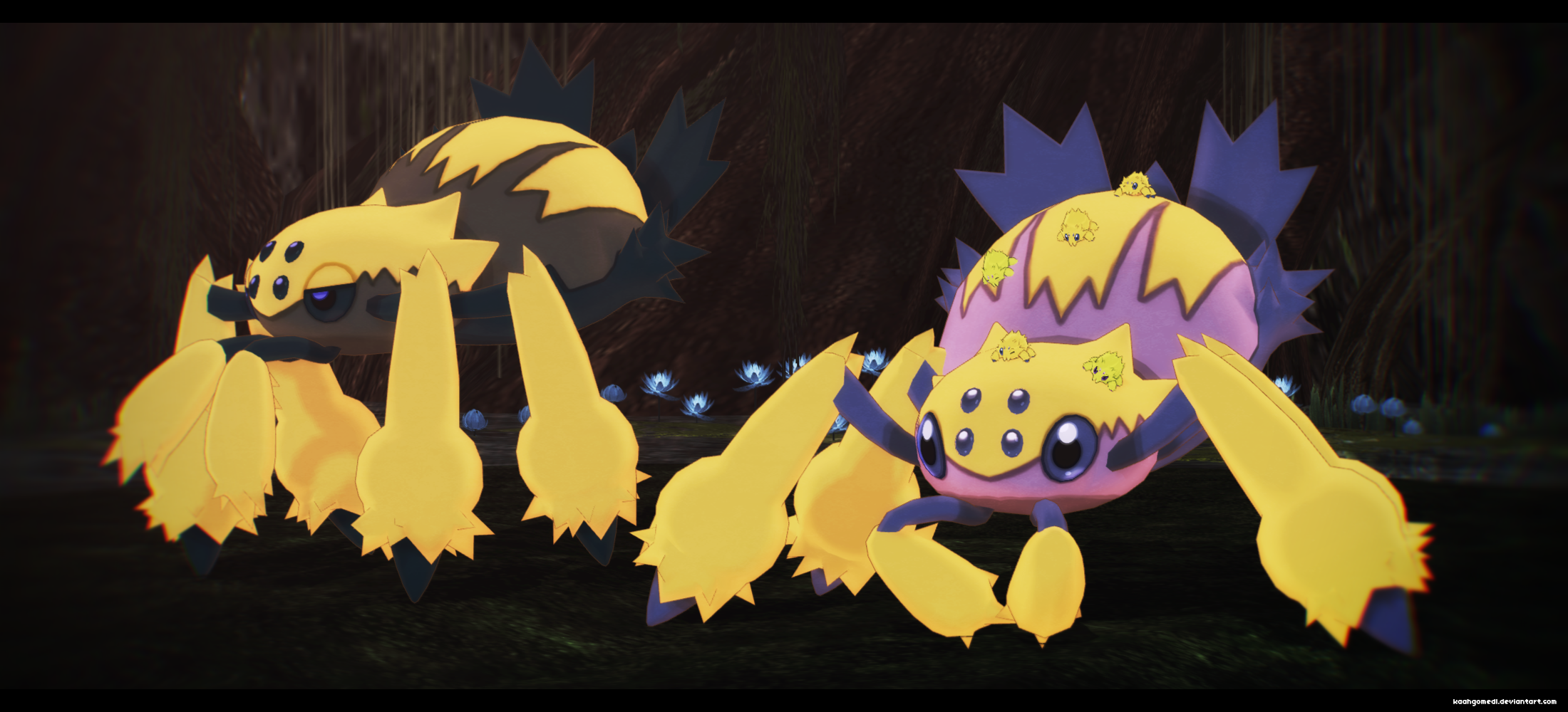 MMD Pokemon: Galvantula Joltik