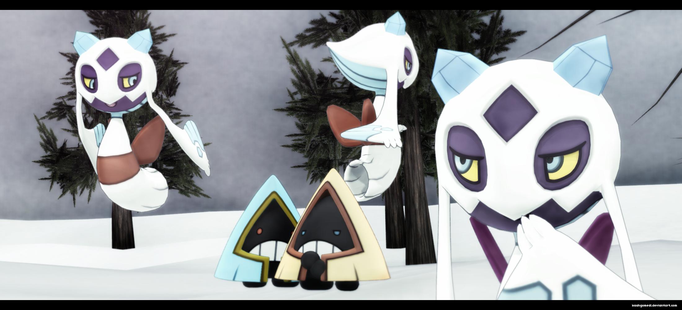 MMD Pokemon: Froslass and Snorunt