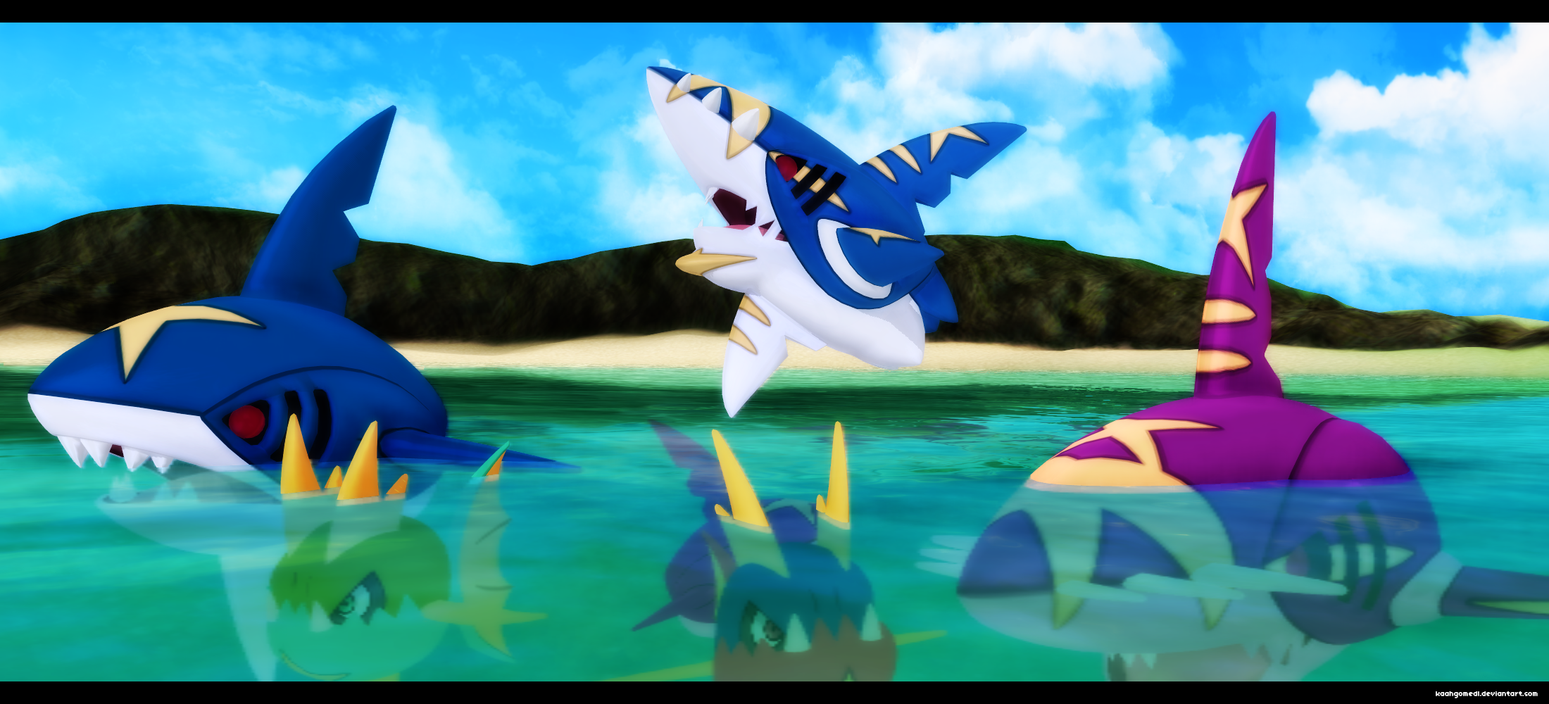 MMD Pokemon: Carvanha and Sharpedo