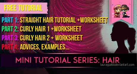 Tutorial Hair + Worksheet PART 3 - Curly Hair 2