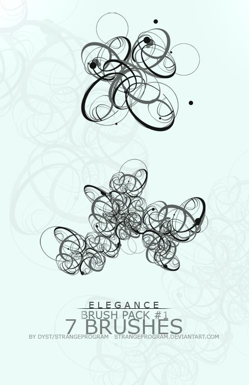 Brush Pack 1: Elegance by StrangeProgram