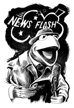 Inktober Postscript: NEWS FLASH