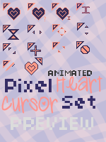 Pink and Navy Cursor Set by ChloeCat3