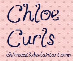 ChloeCurls Font by ChloeCat3