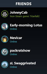 Steam Friends List by Borophyll