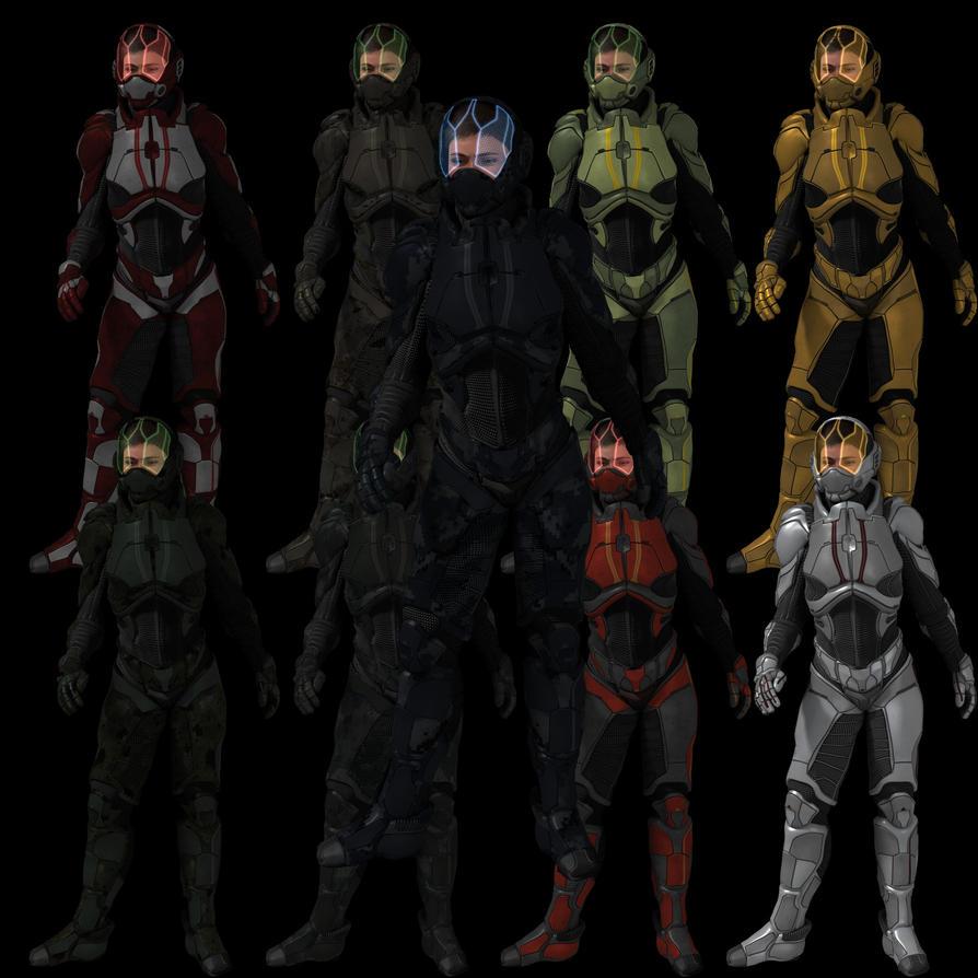 DS MATs for X3D Hyper Suit Texture Expansion by AdamTLS