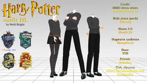 MMD Harry Potter Outfit DL