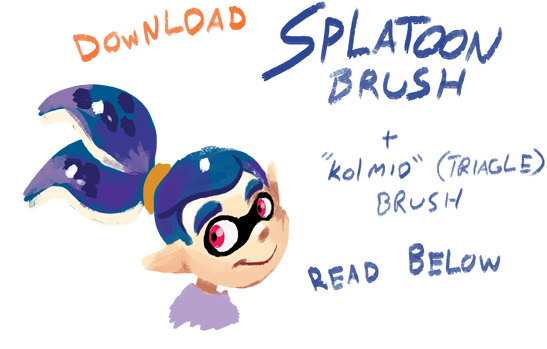 Splatoon Brush by TamarinFrog on DeviantArt