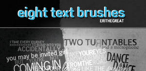 8 Text Photoshop Brushes