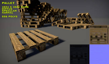 Free Wood Pallet Pack by Yughues