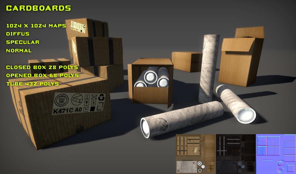Free Cardboards Pack by Yughues