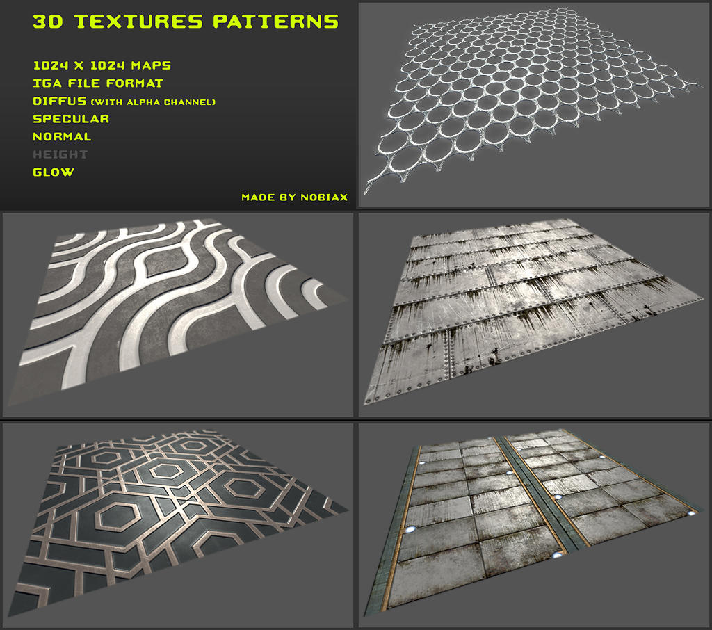 Free 3D Textures Pack 02 By Nobiax On DeviantArt