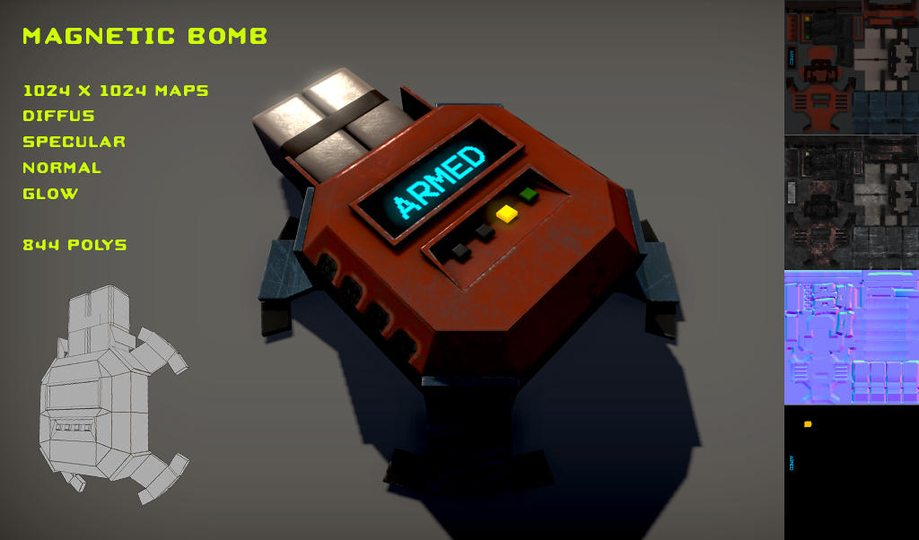 Free Magnetic Bomb Pack by Yughues