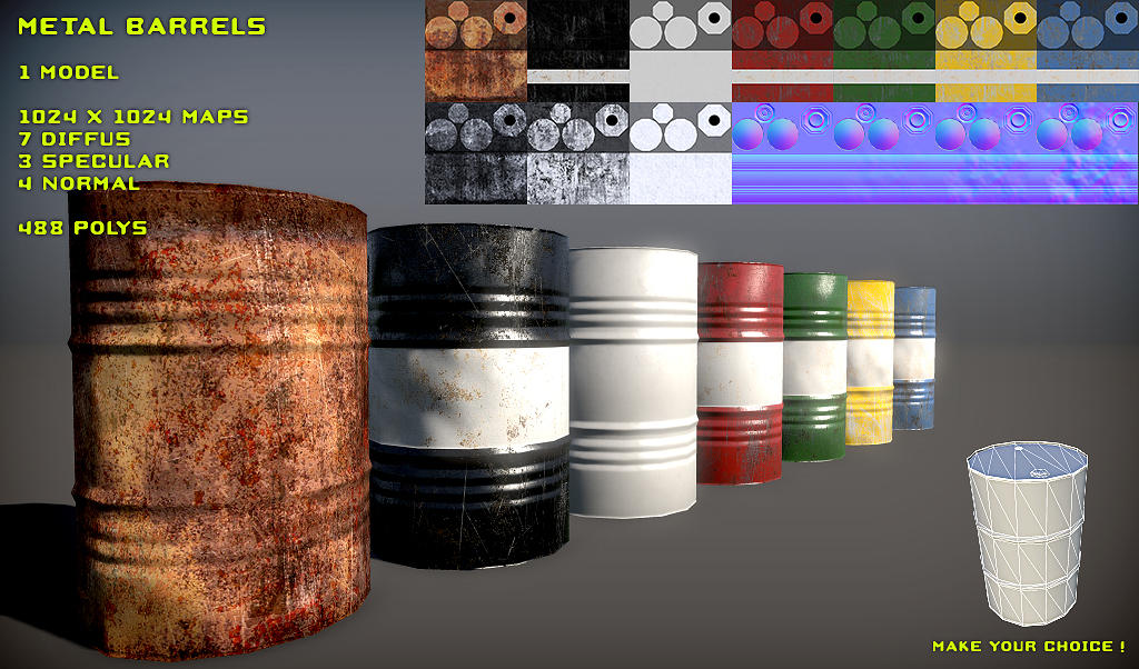 Free Metal Barrel Pack by Nobiax