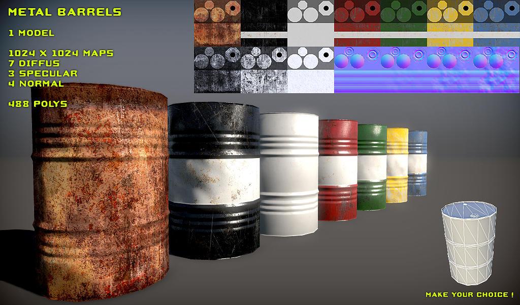 Free Metal Barrel Pack by Yughues