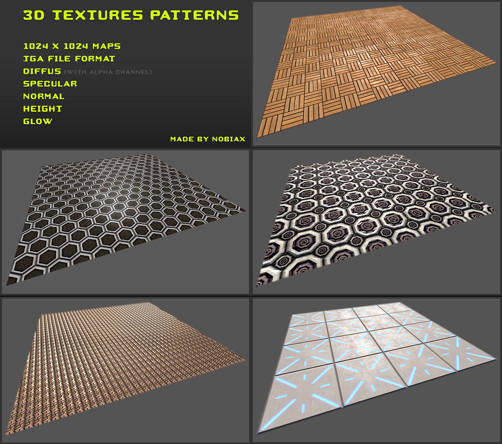 Free 3D textures pack 04