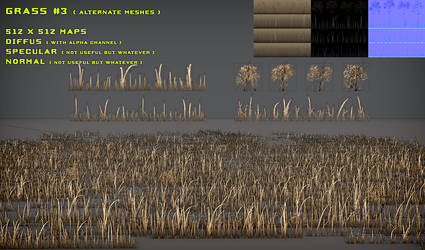 Free Grass Pack 3 Alt. Meshes by Yughues