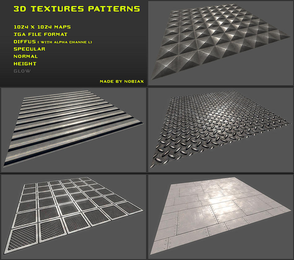 Free 3D Textures Pack 07 By Nobiax On DeviantArt