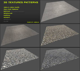 Free 3D textures pack 09 by Yughues